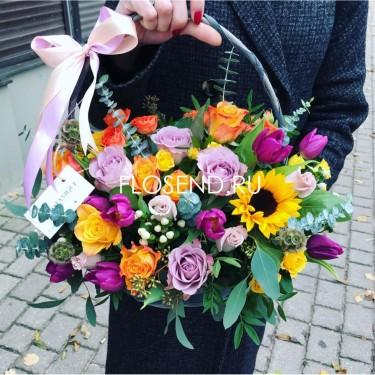 Цветы в коробке № 170