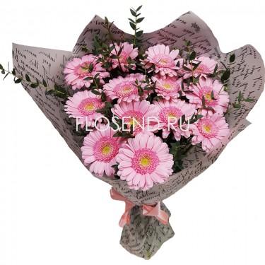 Букет из 13 розовых гербер